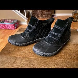 7.5 Sorel out N About Plus Boot Quilted Black